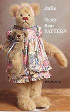 "Mohair/Plush ""Julie"" Teddy Bear Pattern by Neysa A. Phillippi of Purely Neysa"