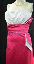 Jordan wedding Dress formal gown hot pink white bow strapless 4 6 S VTG 80s NEW