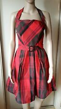 CUE WOMENS SUMMER DRESS SIZE 6 RED BLACK
