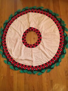 Mary Engelbreit 1992 Hallmark Christmas Tree Skirt NWT Super Rare!! 48""