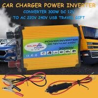 2.1A 300W 3000W DC 12V AC 220V Pure Sinus Convertisseur Puissance Onduleur 2 USB