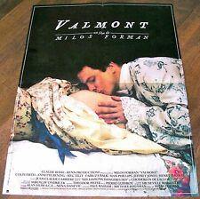 VALMONT - Milos Forman  AFFICHE 60CM/80CM (1989) + LIVRET DE PRESSE RÉÉDITÉ.