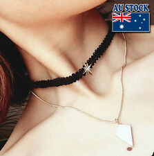 Whole Sale Black Leather Choker And Gold Plated Chain With Charming Pendants