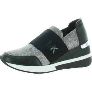 MICHAEL Michael Kors Womens Felix Black Casual and Fashion Sneakers BHFO 2654