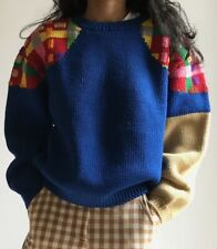 80s K-Factory By Nuobo Ikeda Hand Knit Wool Sweater Made In Japan