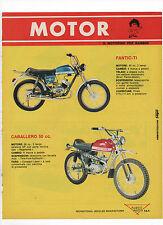 Pubblicità epoca 1972 MOTO FANTIC MOTOR CABALLERO advertising werbung publicitè