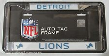 NFL Detroit Lions Chrome License Plate Frame Thin Letters