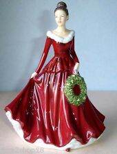 Royal Doulton MISTLETOE And WINE Pretty Ladies Christmas Songs 5701 Petite New