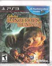 Cabela's Dangerous Hunts: PS3 GAME 2011 (Play Station 3) Rated T Teen Ships FREE