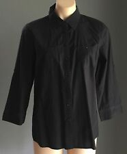 Classic SPORTSCRAFT Black 3/4 Length Sleeve Shirt Size 12