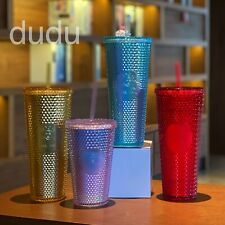 China Starbucks 2020  24oz Christmas  Shinning Diamond Studded Tumbler STRAW CUP