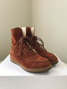 Esprit Suede Leather Tan Boots - Size 37