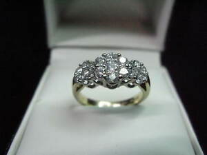 1.05 CARAT 14K YELLOW GOLD DIAMOND ENGAGEMENT RING WEDDING BRIDAL
