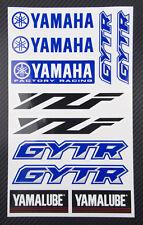 YZF GYTR Yamalube decals set 6.3x10.2 in 11 stickers yzf-r1 yzf-r6 yz-f 450