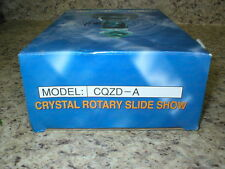 CRYSTAL ROTARY SLIDE SHOW  MULTI COLOR LIGHT BLACK BASE CQZD-A