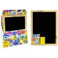 A4 CHALKBOARD Children Fun Kids Black Chalk Board Dry Wipe Blackboard UK POST