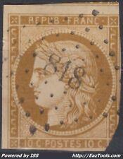 FRANCE CERES N° 1 AVEC OBLITERATION PC 818 LA CHATRE INDRE COTE 340€ A VOIR