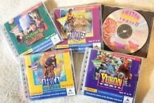 "5 Vintage ""Trail"" Win/Mac Cds: Yukon, Africa, Amazon 2, Mayaquest, Yellowstone"