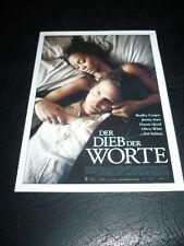 THE WORDS, film card [Dennis Quaid, Jeremy Irons, Zoe Saldana]
