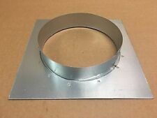 Wandflansch Wickelfalzrohr Metallrohr Lüftung  NW 150 mm 210 X 210 mm
