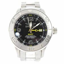 Invicta Ocean Ghost Men's Stainless Black Dial Swiss Made GMT Watch 6330