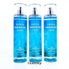 3 Bath & Body Works Papaya Paradise Cove Fragrance Mist Spray 8oz NEW ShipsFree!