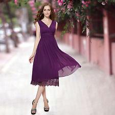 Polyester Empire Waist Solid Regular Size Dresses for Women
