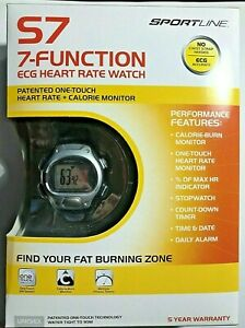 SportLine S7 ECG Heart Rate Fitness Watch One Touch Technology New In-Hand
