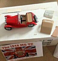 Franklin Mint 1948 MG TC Red Original Box Tag Certificate & Engine Plan
