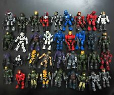 LOT OF 15 Halo Mega Bloks SOLDIER FIGURES w 15 gun stand ( by random ) #lgd2