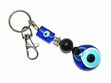 B-0235 - Lucky Evil Eye Nazar Boncuk & Buddha Head Charm Keyring / Bag Hanger