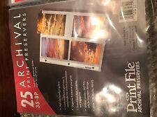 "Page Protectors; PRINT PRESERVERS;  35-8P;  Size 3.5"" X 5"" Prints;  21 TOTAL"