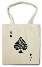 ACE OF SPADES I STOFFTASCHE Spade Poker Card Casino Karte Royal Flush Pik As