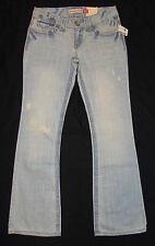 New Aeropostale Jeans Sz 1/2 Regular Hailey Skinny Flare Leg Distressed