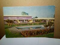 BLYTHE TRAVEL LODGE California BERT WATTS PHOTO GIFT SHOP Gillick Printing 1960
