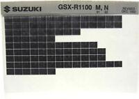 Suzuki GSXR GSX-R1100 1991 1992 Parts Microfiche s450