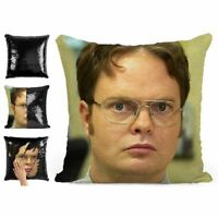 DWIGHT SCHRUTE IN THE OFFICE SEQUIN PILLOW MAGIC REVEAL MERMAID CUSHION