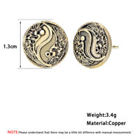 Yin Yang Stud Earrings Eight Diagrams Pendant Ancient Symbol Boho Ethnic Earring