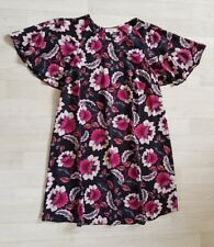 PAPAYA size 12 black FLORAL DRESS pink shift holiday MATALAN
