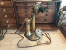 Vintage Brass Candlestick Telephone