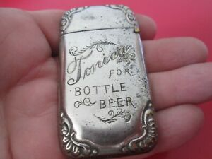 Antique -  ADVERTISING   MATCH SAFE - INDIANAPOLIS BREWING COMPANY   #39