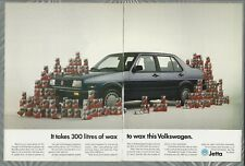 1989 VOLKSWAGEN JETTA 2-page advertisement, VW Jetta with car wax