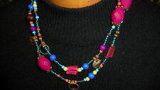 BEAUTIFUL PREMIER DESIGNS JEWELRY ((( TROPICAL PUNCH))) NECKLACE COLORFUL