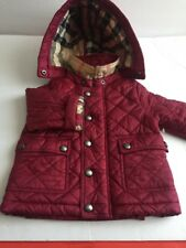 BURBERRY Quilted Hooded Jacket Baby Kids Red Size 12