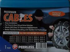 TIRE CABLE SNOW CHAINS, PAIR OF PASSENGER, PEERLESS, 0172155
