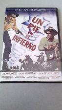 """DVD """"UN PIE EN EL INFIERNO"""" PRECINTADA JAMES B. CLARK ALAN LADD DON MURRAY"""