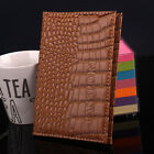 HOT Alligator Grain Travel Passport Card Cover PU Leather ID Credit Card Holder