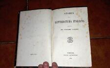 CESARE CANTù STORIA DE LETTERATURA ITALIANO LE MONNIER 1865 ATRÁS CUERO