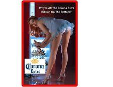 "Corona Extra Beer Girl Large Refrigerator / Tool Box Magnet 7"" x 10 1/2"""
