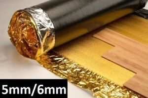 5mm 6mm or 7mm Sonic Gold Underlay - Wood or Laminate Flooring - 1x FREE TAPE